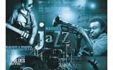 Fotobehang Muziek, Jazz | Blauw | 104x70,5cm