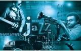 Fotobehang Vlies | Muziek, Jazz | Blauw | 368x254cm (bxh)