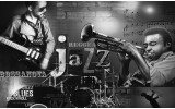 Fotobehang Muziek, Jazz | Zwart, Wit | 208x146cm