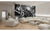 Fotobehang Papier Muziek, Jazz | Zwart, Wit | 254x184cm