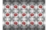 Fotobehang Papier Rozen, Bloemen | Grijs, Rood | 254x184cm