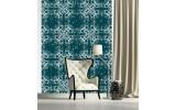 Fotobehang Papier Klassiek | Groen, Blauw | 184x254cm