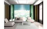 Fotobehang Papier Wolken | Groen | 368x254cm