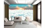 Fotobehang Papier Wolken | Blauw | 254x184cm