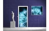Deursticker Muursticker Abstract   Blauw   91x211cm