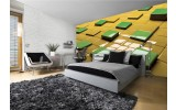 Fotobehang 3D | Geel, Groen | 104x70,5cm