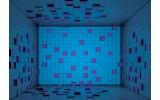 Fotobehang Vlies | 3D | Blauw, Paars | 368x254cm (bxh)