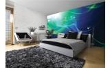 Fotobehang Papier Design | Groen, Blauw | 254x184cm