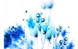 Fotobehang Bloemen | Wit, Blauw | 416x254