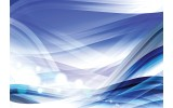 Fotobehang Vlies   Design   Wit, Blauw   368x254cm (bxh)