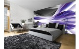 Fotobehang Design | Grijs, Paars | 312x219cm