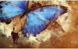 Fotobehang Vlies | Design | Blauw, Bruin | 368x254cm (bxh)
