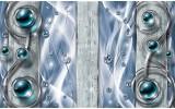 Fotobehang Papier Design, Modern | Blauw | 254x184cm