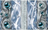 Fotobehang Design, Modern | Blauw | 152,5x104cm