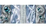 Fotobehang Design, Modern   Blauw   250x104cm