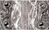 Fotobehang Design, Modern | Zilver | 312x219cm