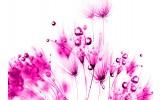 Fotobehang Bloemen | Roze, Wit | 104x70,5cm