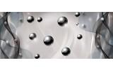 Fotobehang Design | Zilver, Grijs | 250x104cm
