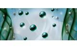 Fotobehang Design | Groen, Blauw | 250x104cm