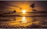 Fotobehang Zee, Zonsondergang | Bruin | 208x146cm