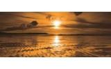 Fotobehang Zee, Zonsondergang | Bruin | 250x104cm