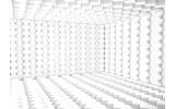 Fotobehang Papier 3D | Wit, Grijs | 254x184cm