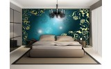 Fotobehang Papier Klassiek | Turquoise | 368x254cm