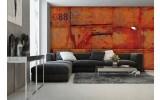 Fotobehang Industrieel, Metaallook | Oranje | 152,5x104cm