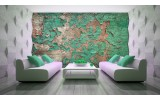 Fotobehang Industrieel, Muur | Groen | 104x70,5cm