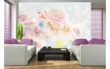 Fotobehang Roos, Bloemen | Roze | 152,5x104cm