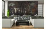 Fotobehang Muur, Industrieel | Bruin | 152,5x104cm