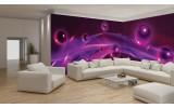 Fotobehang Vlies 3D | Paars, Roze | GROOT 832x254cm