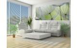Fotobehang Bloemen | Groen, Grijs | 250x104cm