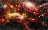 Fotobehang Planeten | Oranje, Bruin | 208x146cm