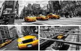 Fotobehang New York | Geel, Grijs | 152,5x104cm