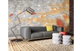 Fotobehang Muur, Modern | Oranje | 152,5x104cm