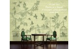 Fotobehang Papier Landelijk | Groen, Grijs | 254x184cm