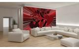 Fotobehang 3D, Hartjes | Rood | 152,5x104cm