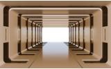Fotobehang 3D, Design | Bruin | 208x146cm