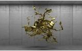 Fotobehang 3D, Design | Goud | 104x70,5cm