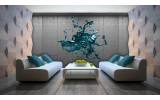 Fotobehang Papier 3D, Design | Turquoise | 368x254cm