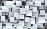 Fotobehang 3D, Design | Zilver | 416x254