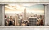 Fotobehang Skyline, Modern | Crème | 208x146cm