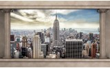 Fotobehang Skyline, Modern | Crème, Grijs | 416x254