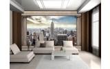 Fotobehang Skyline, Modern | Crème, Grijs | 208x146cm