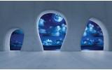 Fotobehang Modern, Nacht | Blauw | 104x70,5cm