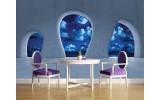 Fotobehang Papier Modern, Nacht | Blauw | 368x254cm