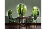Fotobehang Bos, Muur | Groen | 104x70,5cm