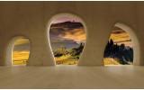 Fotobehang Papier Natuur, Muur | Geel | 368x254cm