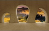 Fotobehang Natuur, Muur | Geel | 416x254